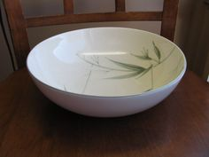 "Winfield ""BAMBOO"" Serving Bowl 9.5"" Mint UNUSED! 1954 California Pottery #WinfieldBamboo"