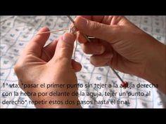 ▶ Como montar los puntos para tejer en tubular utilizando agujas rectas - YouTube