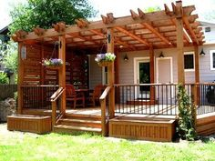 Modern and cozy cedar pergola in the Austin area