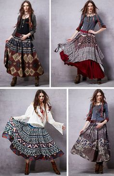 56 Ideas skirt boho outfit bohemian for 2019 Hippie Style, Gypsy Style, Boho Gypsy, Hippie Boho, Bohemian Style, Boho Chic, Hippie Hats, Bohemian Outfit, Bohemian Clothing