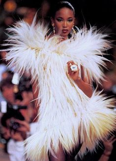 """Naomi Campbell at Yves Saint Laurent Haute Couture, 1987"