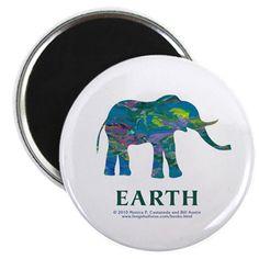 Earth Element Elephant Magnet