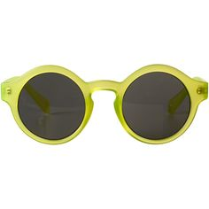Monki Hope sunglasses ($6.53) ❤ liked on Polyvore featuring accessories, eyewear, sunglasses, glasses, monki, rubber duckie yellow, heart glasses, vintage glasses, heart-shaped sunglasses and heart sunglasses