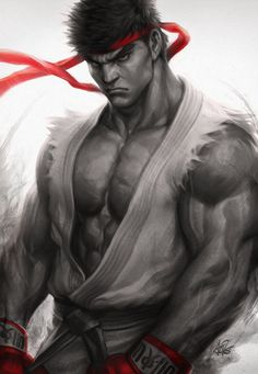 The fighting style used by Street Fighter character Ryu, is described as a martial art rooted as an assassination art Ansatsuken. This fighting style is heavily based on striking-based martial arts such as KyoKushin Karate. Ryu Street Fighter, Street Fighter Wallpaper, Stanley Lau, Street Fighter Characters, Super Anime, Street Fights, Poses References, King Of Fighters, Fighting Games