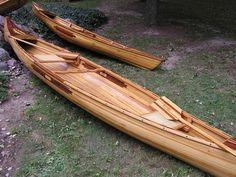 The Grand, cedar strip canoe