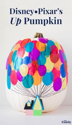Looking for a fun and easy alternative to pumpkin carving? Inspired by Disney•Pixar's Up, this sweet pumpkin craft is perfect for the Disney Family who loves a not-so-scary Halloween. Plus, an adventurous spirit never goes out of style, so it's a great way to decorate your home or front porch for all of fall. Click for the DIY Up Pumpkin tutorial.