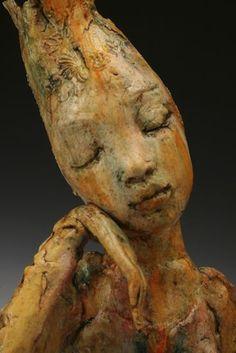 Detail, 'Harmony' by American ceramic artist Pat Swyler. via Venice Clay Artists