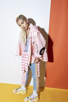 Actress, dancer, singer and songwriter Hayley Kiyoko stars in a bold and colorful editorial shoot for NYLON, photographed by Lindsey Byrnes. Hailey Kiyoko, Celebrity Crush, Celebrity Style, Cool Outfits, Fashion Outfits, Gay Pride, My Idol, Beautiful People, Beautiful Ladies