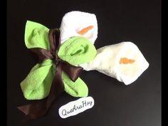 DIY Alcatraces de toalla - YouTube