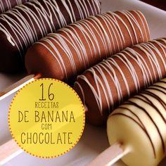 16 receitas deliciosas com banana e chocolate
