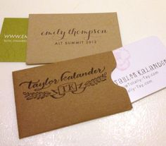 The Business Cards of Alt - Curated by Kirtsy - emmarie designs