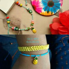 Siempre puedes elegir diferentes opciones.  #cecinopeaccesorios #pulserapiña #pineapplebracelets Delicate, Beaded Necklace, Bracelets, Instagram, Jewelry, Fashion, Bracelet, Elegant, Women