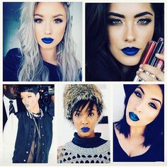 Blue lips are going to be the new red this fall ! Can't wait for youniques superstitious to come out and rock !!   makeupaddictstash.com  #mascara #makeup on #fleek #try #love #younique #beauty #lashes #falsies #mommy #mua #ladies #blogger #youniqueproducts #lashcrack #makeupaddict #stash #lips #matte #lipstick #blue #trending #fall #winter #new