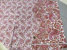 Mauve Pink Paisley Fabric Mauve Pink White Cotton by GreenBeeKC, $4.99