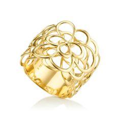 Anel em ouro amarelo 18k - Coleção Begônia