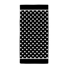 Black and White Polka Dots Pattern Background Beac
