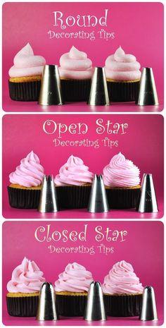 Easy #Cupcake #Icing Tutorials