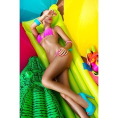 Pool Colors ❤ liked on Polyvore featuring models, people and women