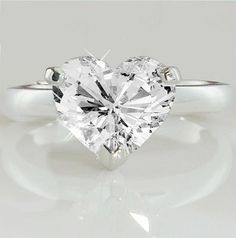 A Perfect 3.5CT Heart Cut Solitaire Russian Lab Diamond Engagement Promise Wedding Ring - Joy of London Jewels