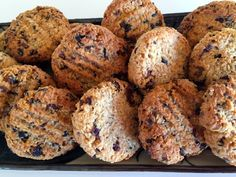 """Honey, Coconut and Oat Cookies - dairy free, nut free, wheat free, refined sugar free . to be enjoyed """"freely"""" and great for lunch boxes too . Dairy Free Biscuits, Dairy Free Cookies, Oat Cookies, Sweet Cookies, Oat Cookie Recipe, Oats And Honey, What Recipe, Coconut Macaroons, Dairy Free Recipes"""