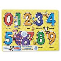 Melissa & Doug Disney Peg Puzzle - Mickey Mouse Numbers