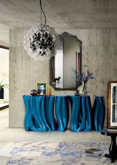 Boca do Lobo has some amazing mirror designs that will bring luxury to your home! These mirrors combined with a modern console table are the perfect combination. Decoration Inspiration, Interior Design Inspiration, Design Ideas, Decor Ideas, Design Trends, Design Projects, Room Ideas, Decorating Ideas, Hallway Decorating