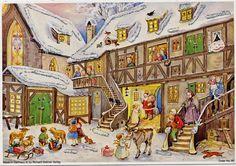 Adventskalender Der Nikolaus kommt 24 Türchen und Silberglimmer No.80