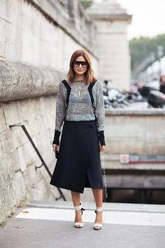 Christine Centenera, heels, skirt, top | Högklackat, kjol, topp
