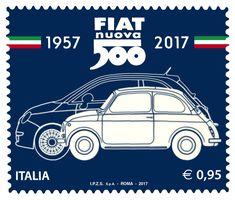 Fiat 500: svelato il francobollo celebrativo del 60° compleanno