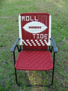 Roll Tide Macrame Chair