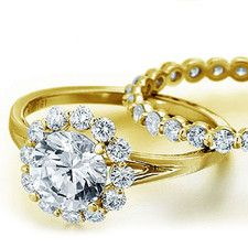 Verragio Couture-0356 18kt Yellow Gold Pave Halo Engagement Ring Mounting .45ctw
