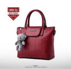 BA02428 Fashion shoulder messenger pure bear handbag