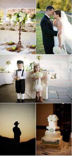 ohmygoodness. how cute is that flower girl and ring bearer? Love the flower girl's dress