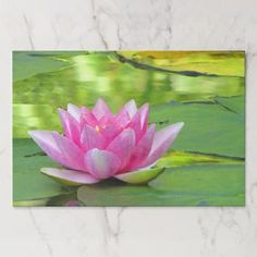 Water Lily Lotus Flower Floral Tearaway Placemat - kitchen gifts diy ideas decor special unique individual customized