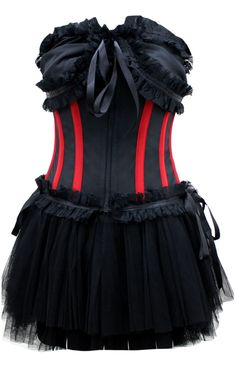 This majestic black knitted satin corset is fit for royalty