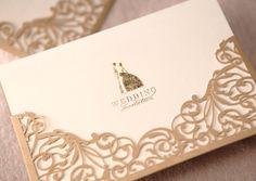 Laser cut customized pocket wedding invitation card with envelope,Invitation Kit ,Greeting cards,100PCS/lot, Free shipping $128.20