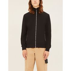 Ck Jeans Zip-through Cotton-blend Trucker Jacket In Black Ck Calvin Klein, Calvin Klein Jeans, Ck Jeans, Lace Up Trainers, Joggers, Bomber Jacket, Zip, Long Sleeve, How To Wear