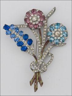 Coro 50's Floral Brooch