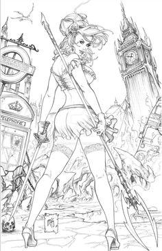 Grimm Fairy Tales Dibujos En 2019 Coloring Pages Adult Coloring Book Pages, Colouring Pages, Coloring Books, Arte Dc Comics, Drawn Art, Fairy Coloring, Sexy Drawings, Arte Pop, Comic Books Art