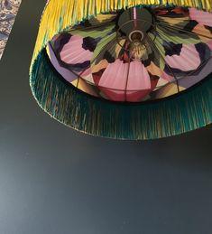 Susi Bellamy x BeauVamp Lamp Shades, Light Shades, Ceiling Shades, Handmade Lampshades, I Love Lamp, Gold Silk, Fabric Painting, Decoration, Tricot