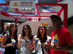 Happy Souls at the Avenues Mall, enjoying their treats from French Fry Heaven. We love our customers!