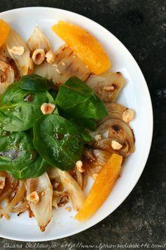 Insalata di spinaci e finocchi con dressing al caffè | ilpranzodibabette