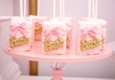 Barbie Rice Krispie Treats from a Pink Glam Barbie Birthday Party on Kara's Party Ideas | KarasPartyIdeas.com (19)