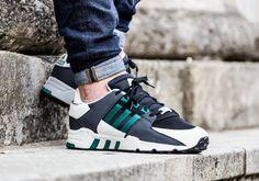 Adidas eqt appoggio avanzata nucleo nero / sub - verde (dal 2016