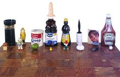 contemporary artist Paul McCarthy has constructed his set entirely out of random objects chosen from the contents of his kitchen. really??? #contemporaryart #art