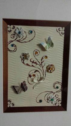 1000 images about cuadros decorativos de papel on - Manualidades con cuadros ...