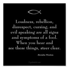 "Symptoms of a fool Inspirational Quotes Keys for Discipline Poster. Excerpt taken from the book ""Keys for Discipline Insight for Godly Living"" ~ By #RtHer4God Bernita Scott Weston"