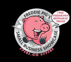 My Freddie Pig Small Business Showcase award badge xx