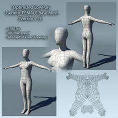 3DOcean Low Poly Human Female Base Mesh Ver1.1 411069