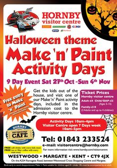 Check out the Hornby Halloween make and paint!!!  #airfix #Make and Paint #event #Hornby #visitor centre #Halloween #fun   http://www.hornby.com/hornby-visitor-centre/make-and-paint/